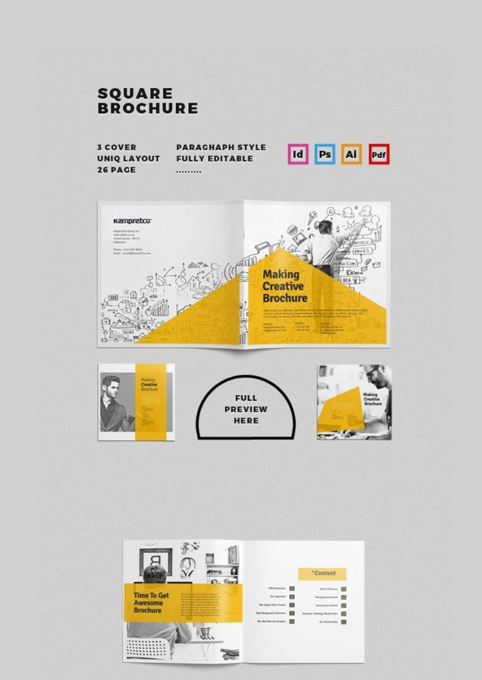 002 Breathtaking Adobe Photoshop Brochure Template Free Download Picture 960
