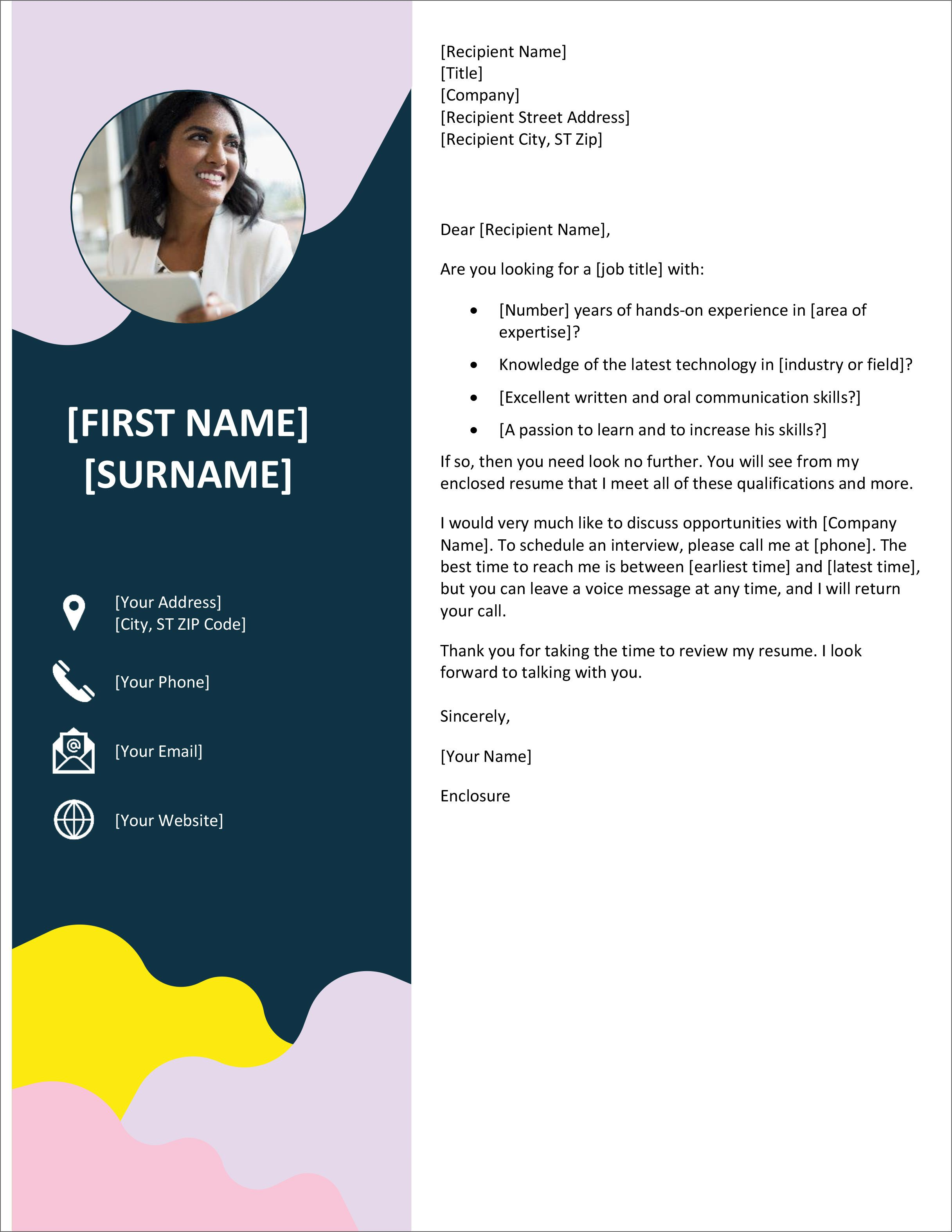 002 Breathtaking Cover Letter Free Template Concept  Download Word DocFull