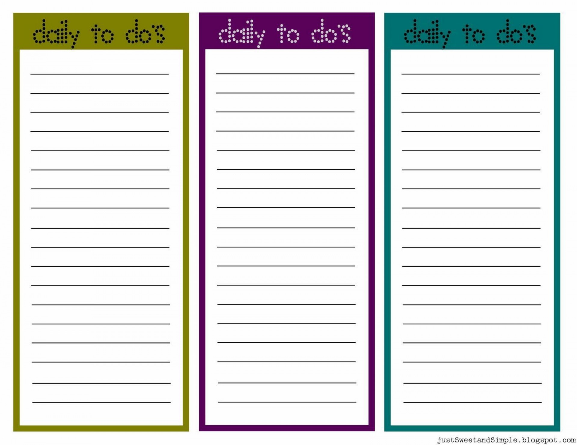 002 Breathtaking Daily To Do List Template High Resolution  Templates Free1920