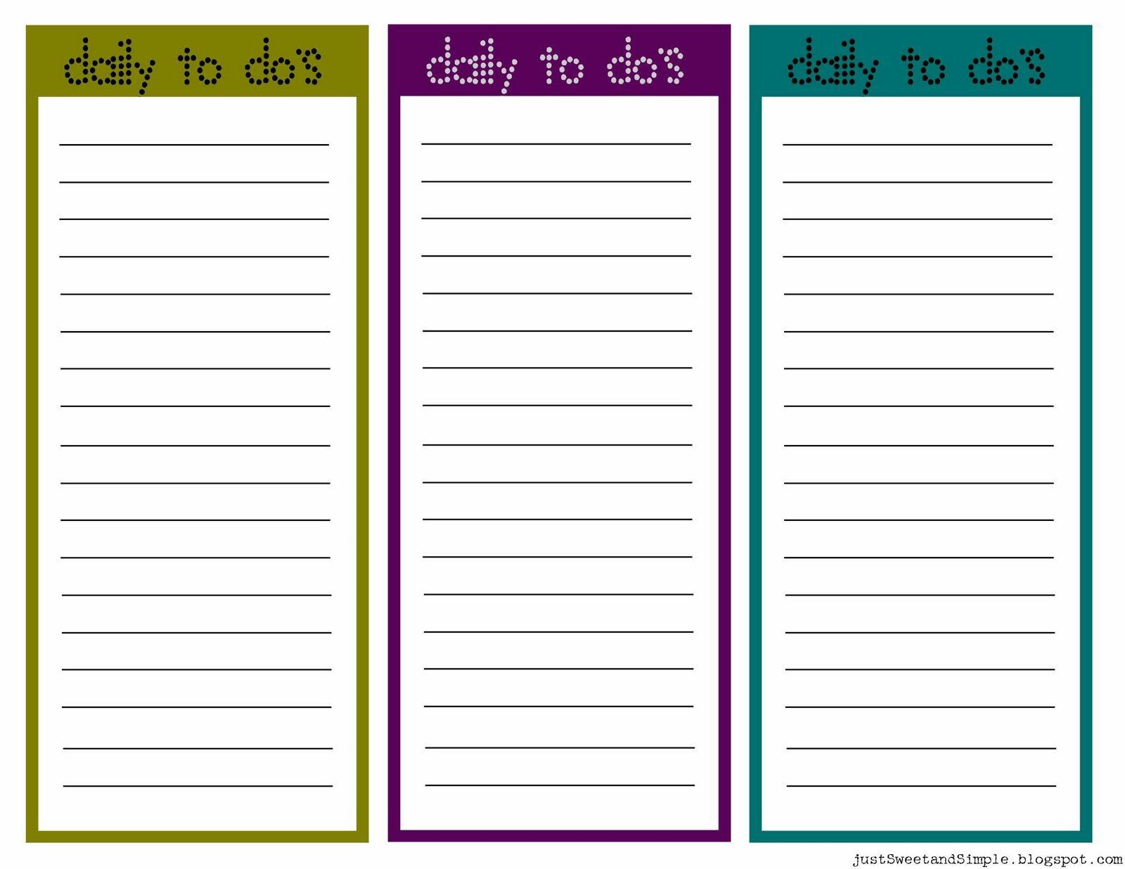 002 Breathtaking Daily To Do List Template High Resolution  Templates FreeFull