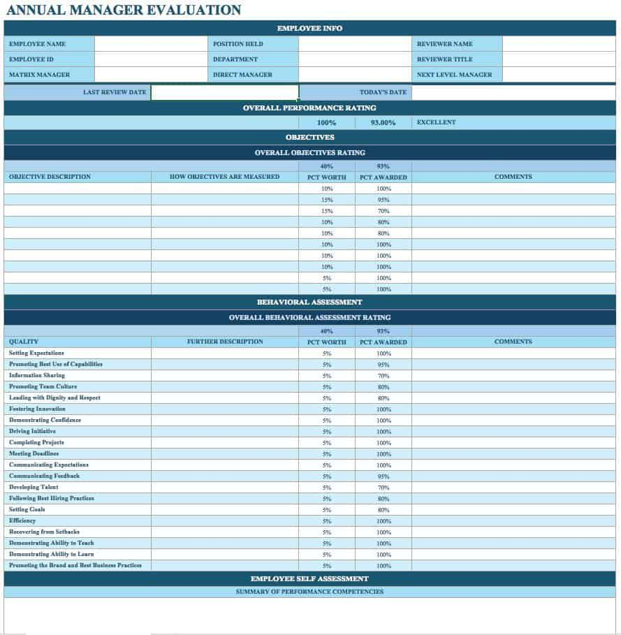 002 Breathtaking Employee Evaluation Form Template High Resolution  Word Self FreeFull