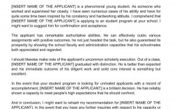 002 Breathtaking Example Of Letter Recommendation For Graduate School From Employer Picture  Sample Pdf Grad
