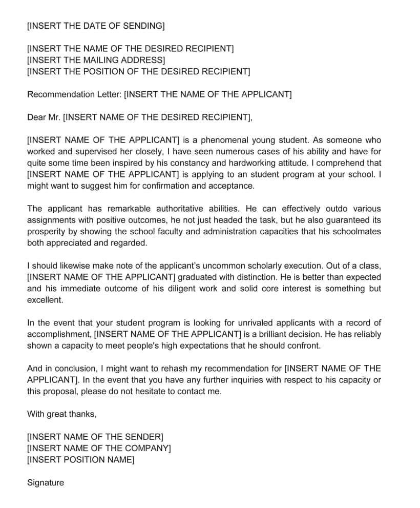 002 Breathtaking Example Of Letter Recommendation For Graduate School From Employer Picture  Sample Pdf GradFull