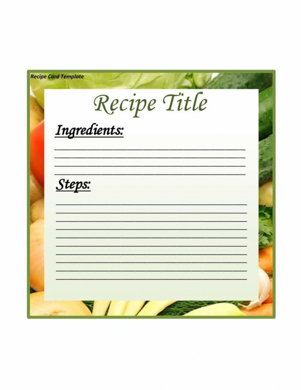 002 Breathtaking Fillable Recipe Card Template Highest Clarity  For Word FreeLarge