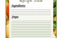 002 Breathtaking Fillable Recipe Card Template Highest Clarity  For Word Free