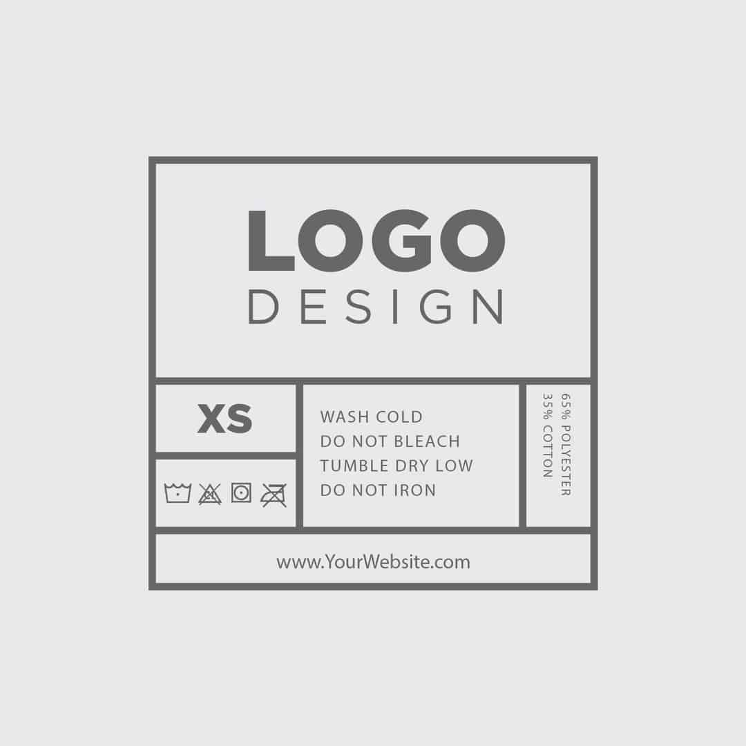 002 Breathtaking Free Clothing Label Design Template Photo  Templates DownloadFull
