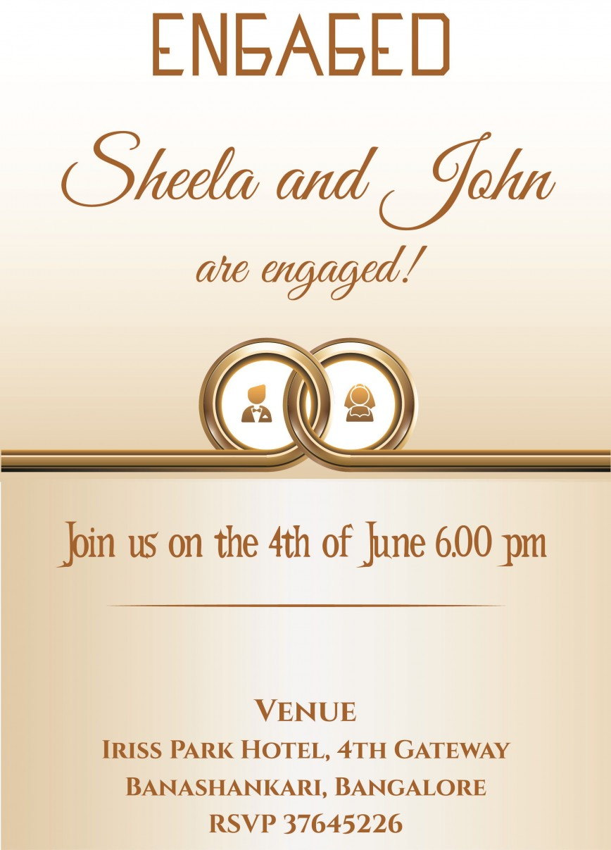 002 Breathtaking Free Engagement Invitation Template Online With Photo Highest Clarity 868