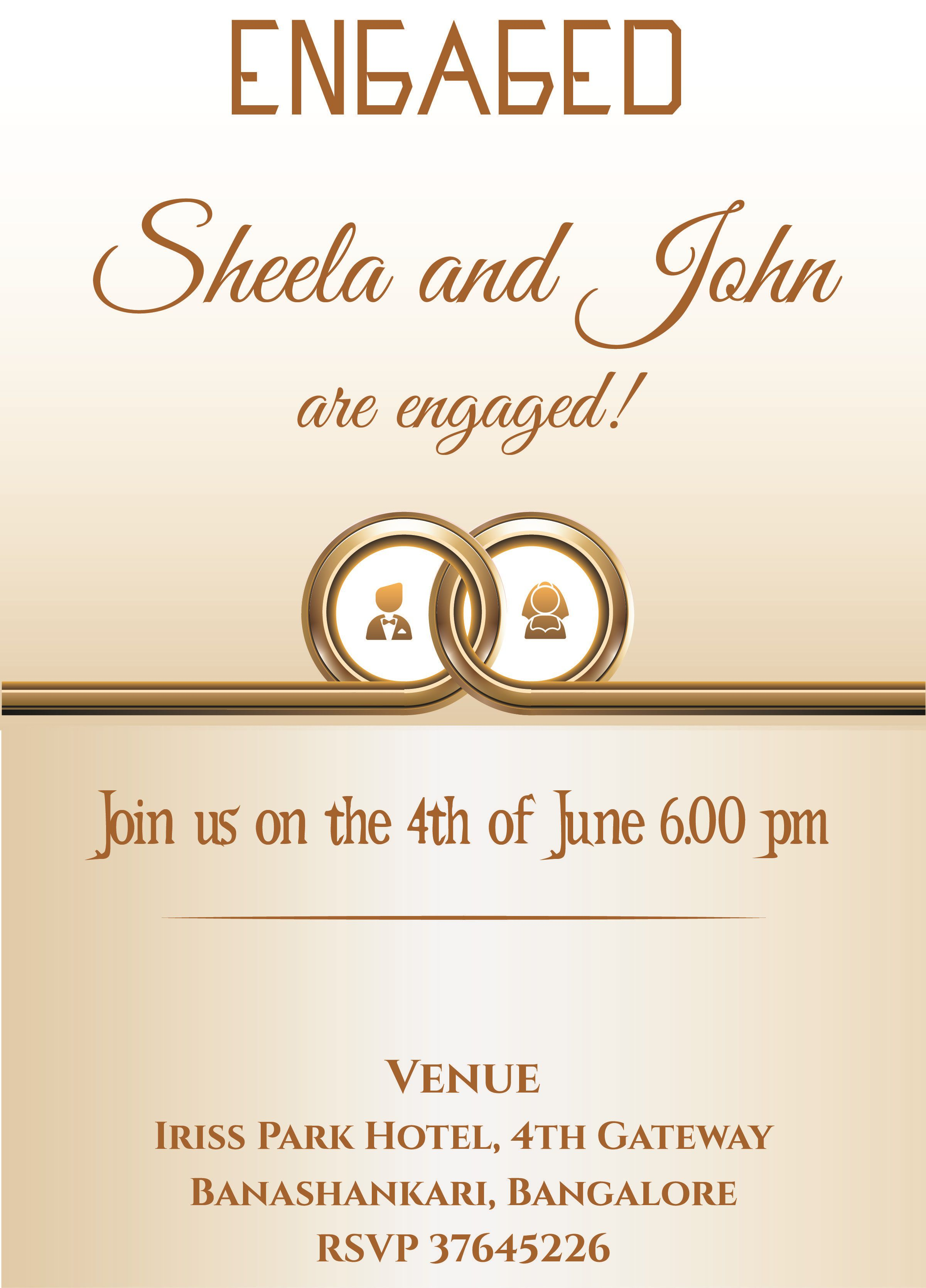 002 Breathtaking Free Engagement Invitation Template Online With Photo Highest Clarity Full