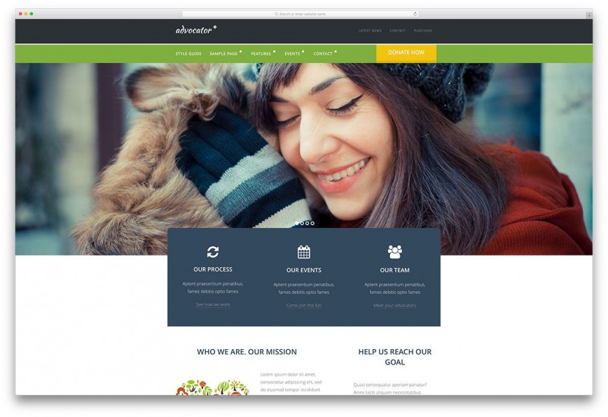 002 Breathtaking Free Non Profit Website Template Concept  Templates Charity