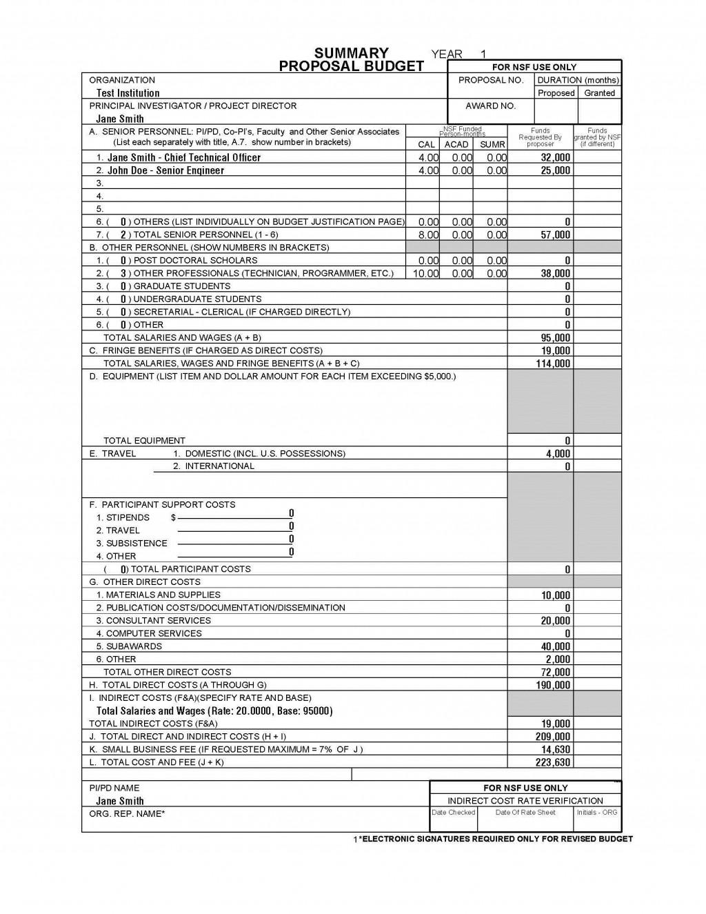 002 Breathtaking Line Item Budget Sample High Definition  Church For Grant Proposal FormatLarge