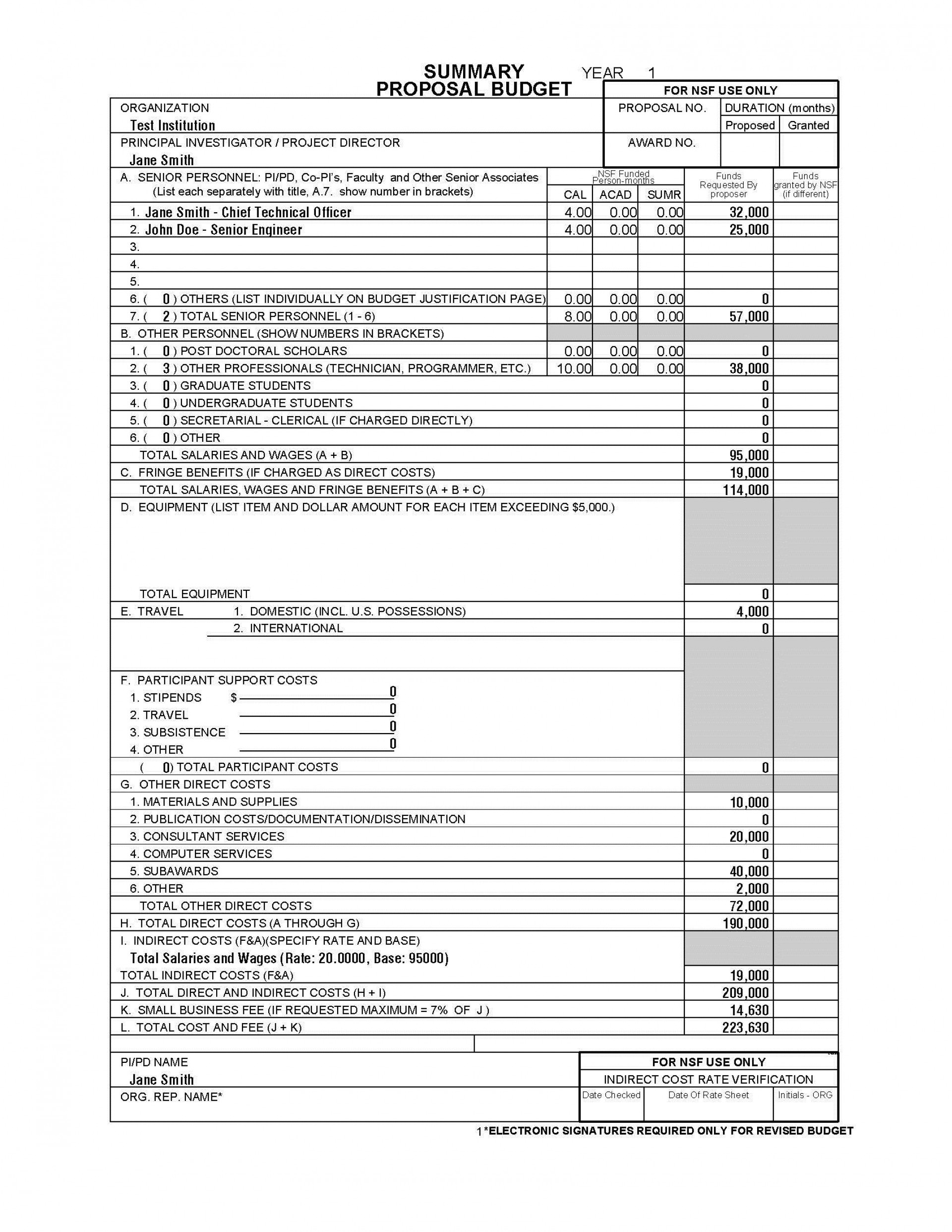 002 Breathtaking Line Item Budget Sample High Definition  Church For Grant Proposal Format1920