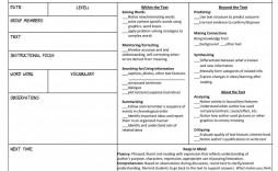 002 Breathtaking Mini Unit Lesson Plan Template Design