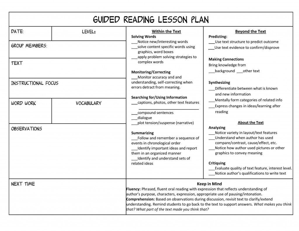 002 Breathtaking Mini Unit Lesson Plan Template Design Full
