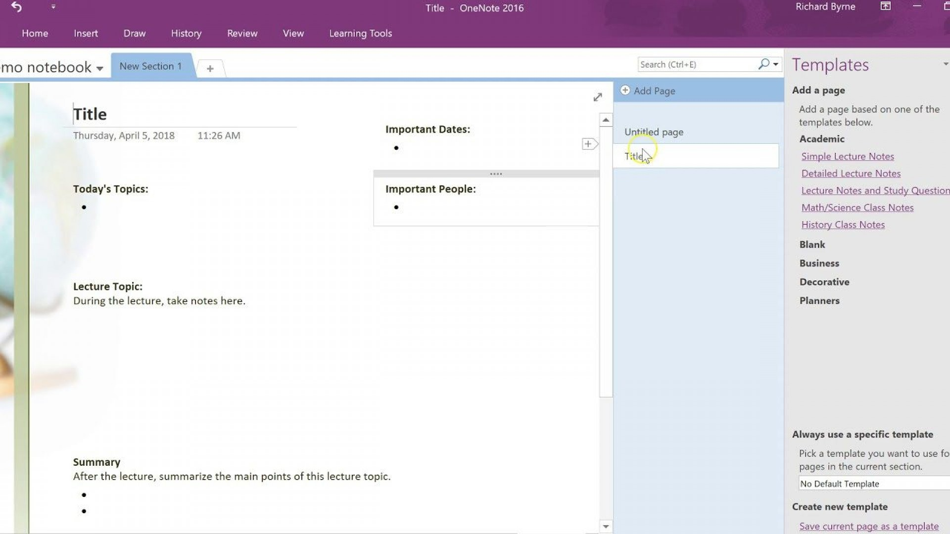 002 Breathtaking Onenote Project Management Notebook Template Image 1920