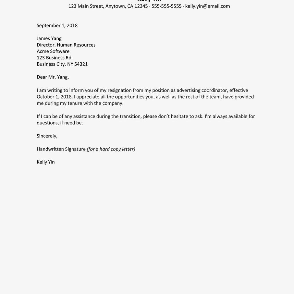 002 Breathtaking Sample Resignation Letter Template High Def  For Teacher Word - Free DownloadableLarge