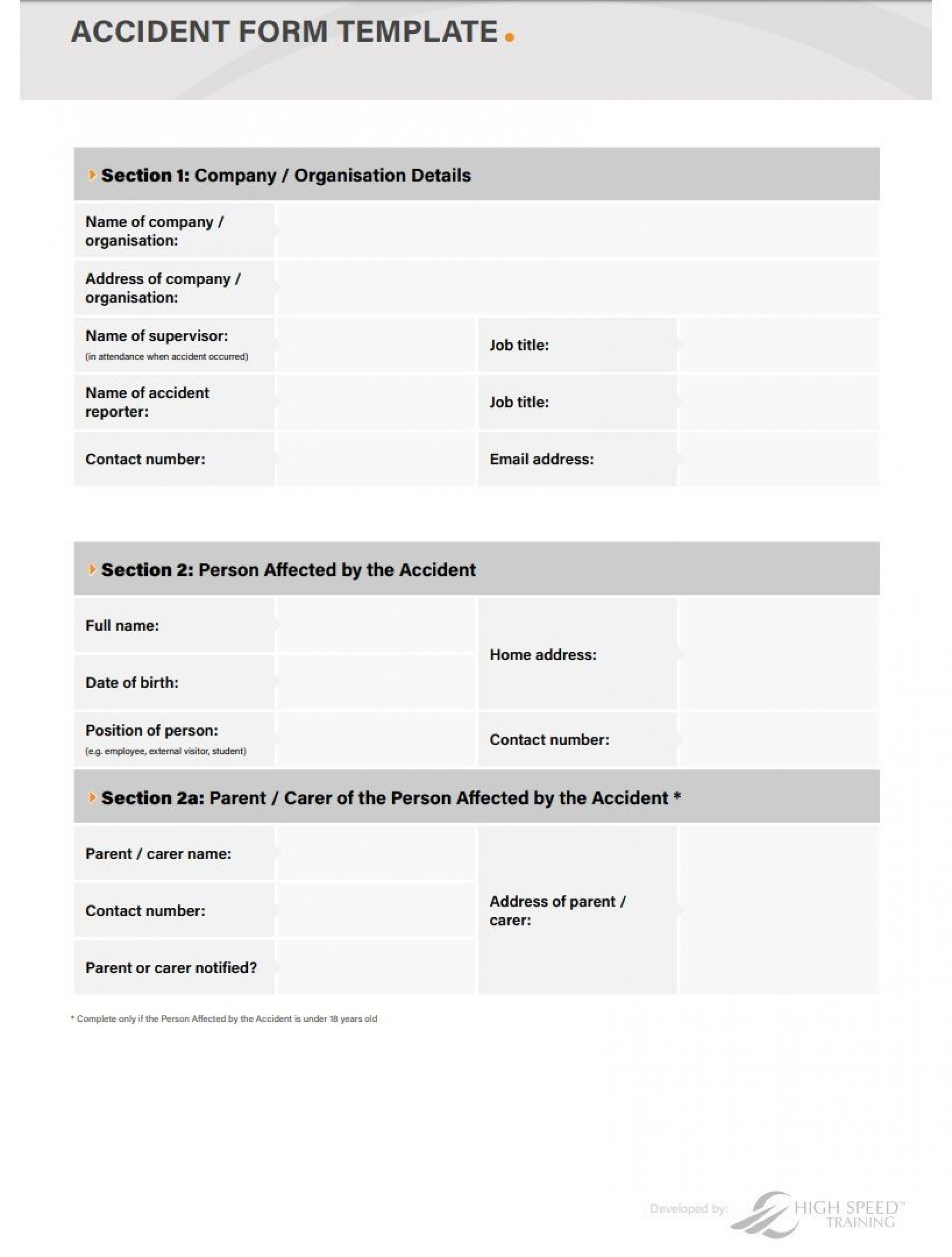 002 Breathtaking Workplace Incident Report Template Uk Design 1920