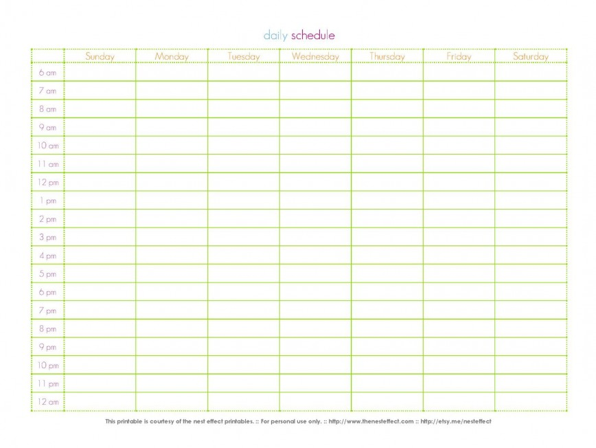 002 Dreaded 24 Hour Calendar Template High Definition  Day Word Excel Weekly