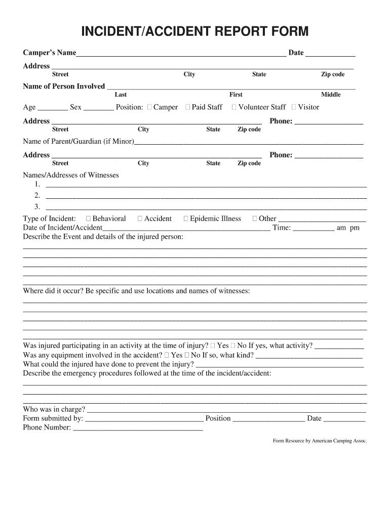 002 Dreaded Accident Report Form Template Picture  Incident Victoria Injury FreeFull