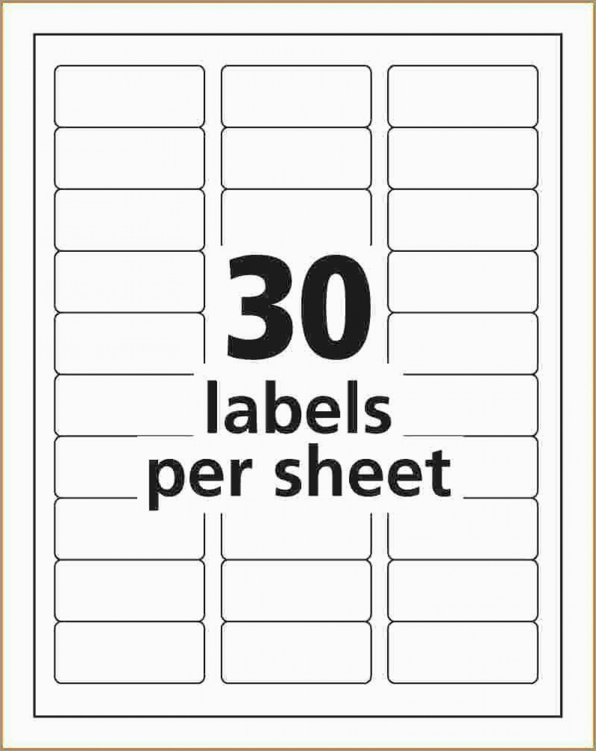 Address Label Template Free Addictionary