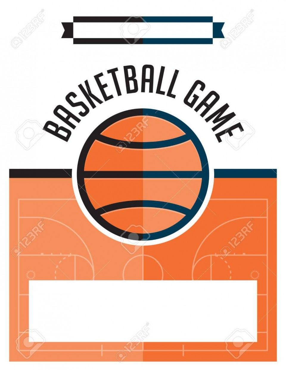 002 Dreaded Basketball Flyer Template Free Sample  Brochure Tryout Camp960