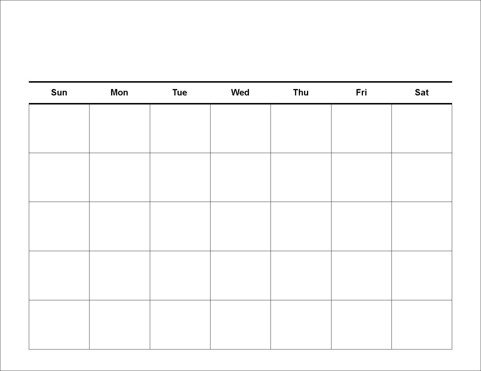 002 Dreaded Blank Calendar Template Pdf High Definition  Free YearlyFull