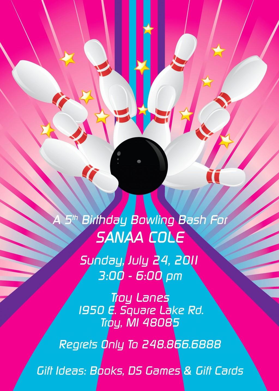 002 Dreaded Bowling Party Invite Printable Free Example  Birthday InvitationLarge