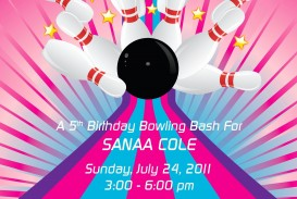 002 Dreaded Bowling Party Invite Printable Free Example  Birthday Invitation