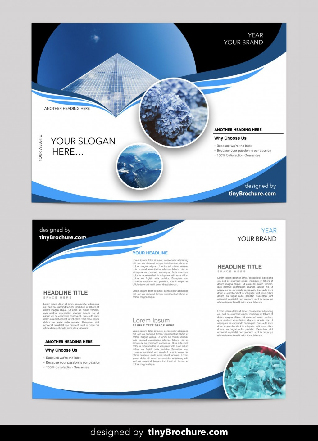 002 Dreaded Brochure Template Free Download Design  Microsoft Publisher Corporate Psd For Adobe IllustratorLarge