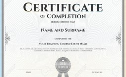 002 Dreaded Certificate Of Completion Template Free Sample  Training Download Word