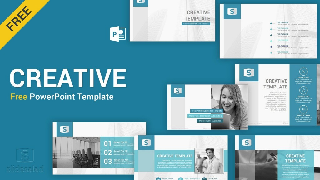 002 Dreaded Creative Powerpoint Template Free Sample  Download Ppt For TeacherLarge