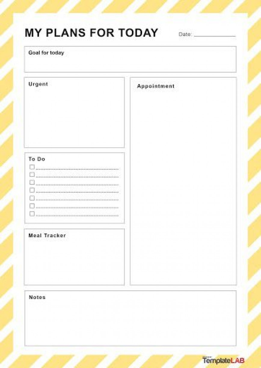 002 Dreaded Daily Schedule Template Printable Concept