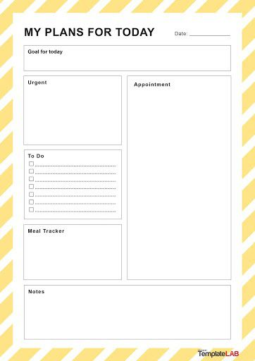 002 Dreaded Daily Schedule Template Printable Concept Full