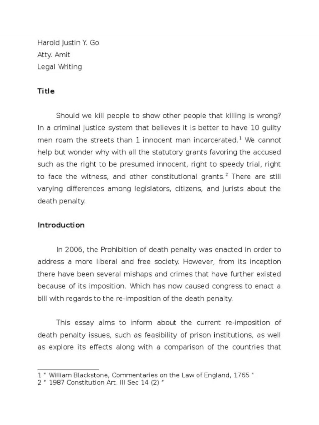 002 Dreaded Death Penalty Essay High Resolution  Persuasive Introduction In The Philippine Tagalog ProLarge