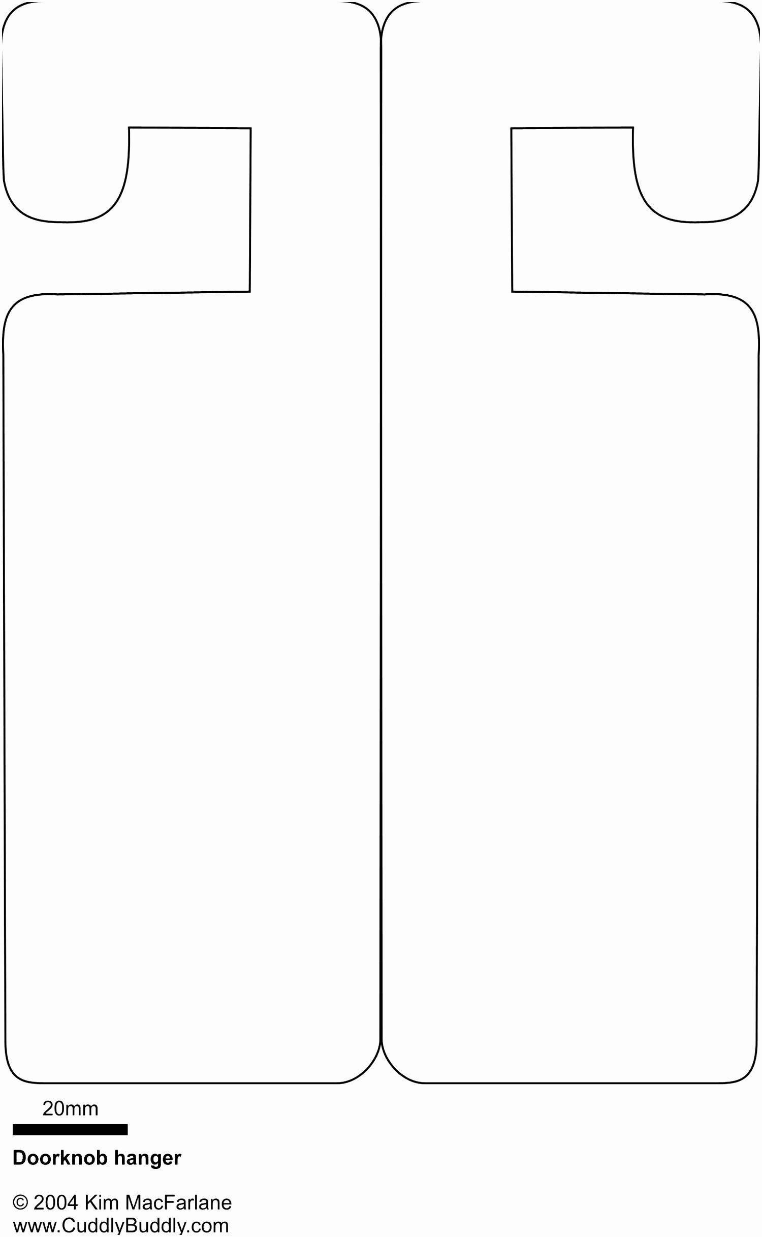 002 Dreaded Door Hanger Template For Word Inspiration  Free MicrosoftFull