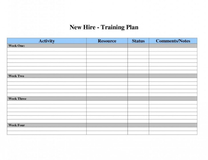 002 Dreaded Employee Training Plan Template Excel High Def  Free Download New Schedule728