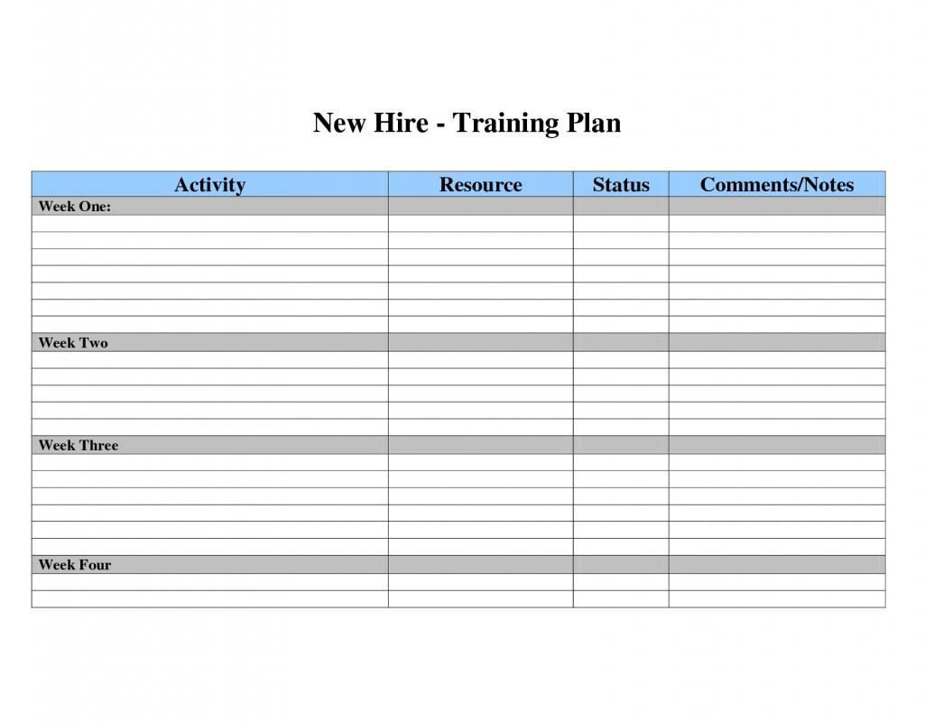 002 Dreaded Employee Training Plan Template Excel High Def  Free Download New ScheduleFull