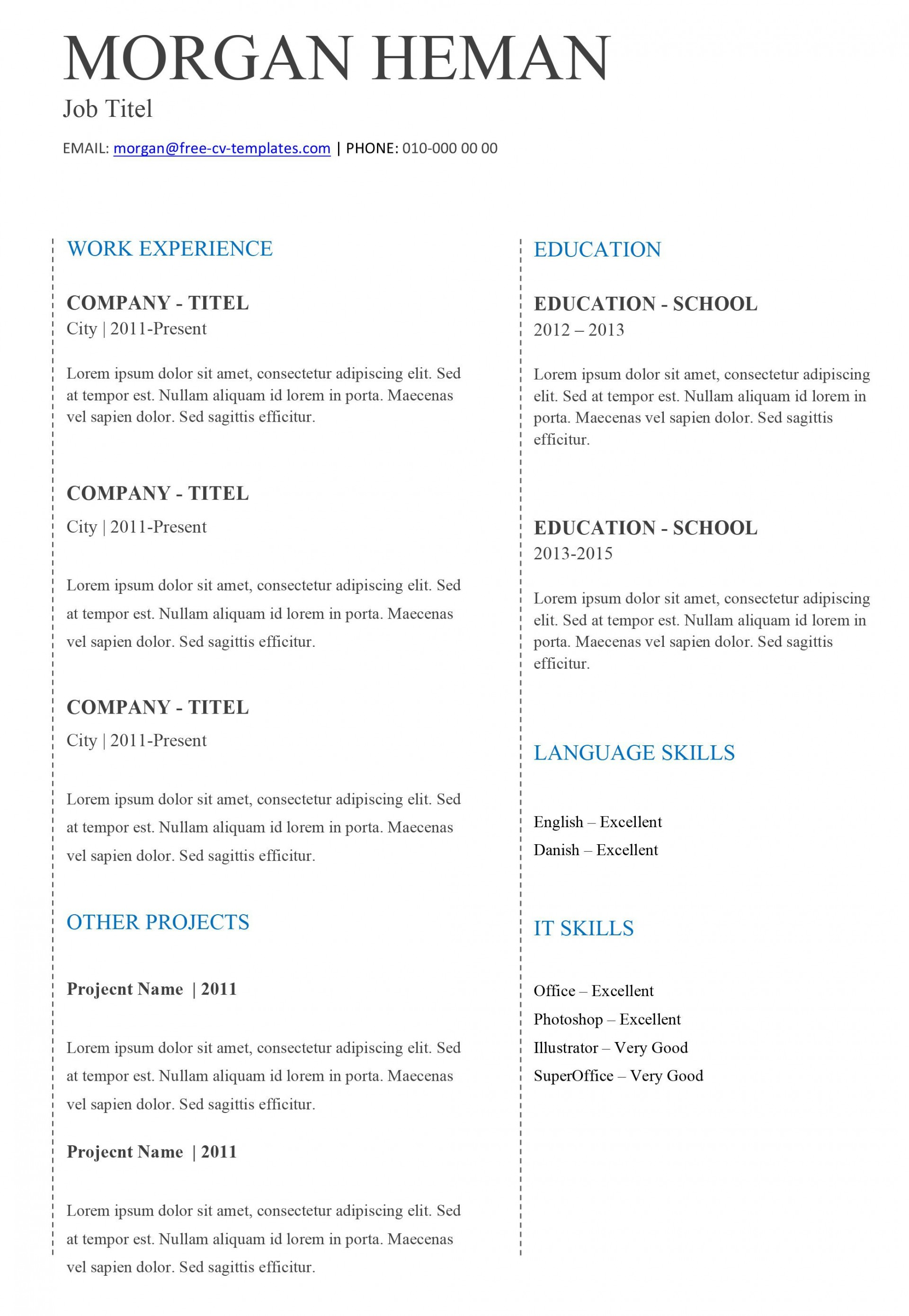 002 Dreaded Free Basic Blank Resume Template Concept  Templates Word Printable To Print1920