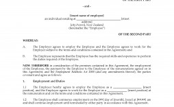 002 Dreaded Free Employment Agreement Template Nz Photo