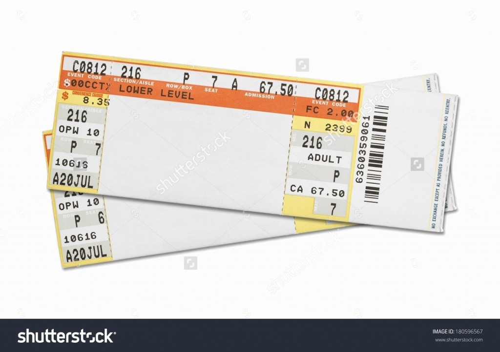 002 Dreaded Free Fake Concert Ticket Template Sample Large