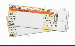 002 Dreaded Free Fake Concert Ticket Template Sample