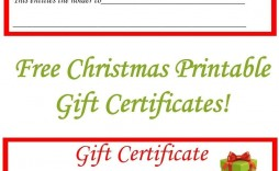 002 Dreaded Free Printable Christma Gift Voucher Template Example  Templates Holiday Certificate