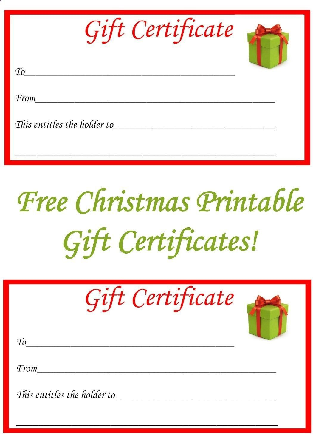 002 Dreaded Free Printable Christma Gift Voucher Template Example  Templates Holiday CertificateFull