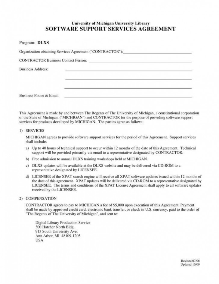 002 Dreaded Free Service Contract Template Pdf Image 728
