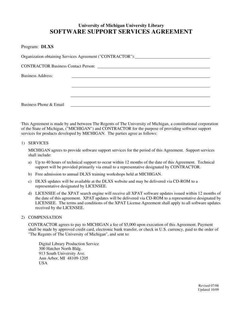 002 Dreaded Free Service Contract Template Pdf Image Full