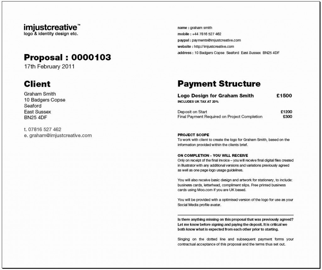 002 Dreaded Graphic Design Proposal Sample Photo  Pdf Free Template IndesignLarge