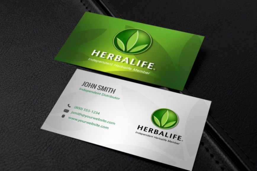 002 Dreaded Herbalife Busines Card Template Highest Clarity  Download Free