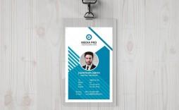 002 Dreaded Id Badge Template Photoshop Idea  Employee