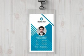 002 Dreaded Id Badge Template Photoshop Idea  Employee
