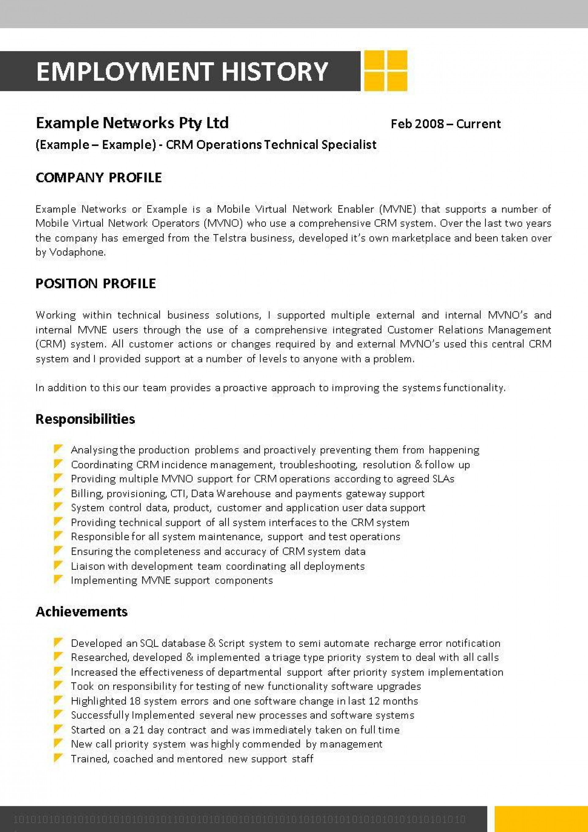 002 Dreaded Information Technology Resume Template Example  Specialist Free Best1920