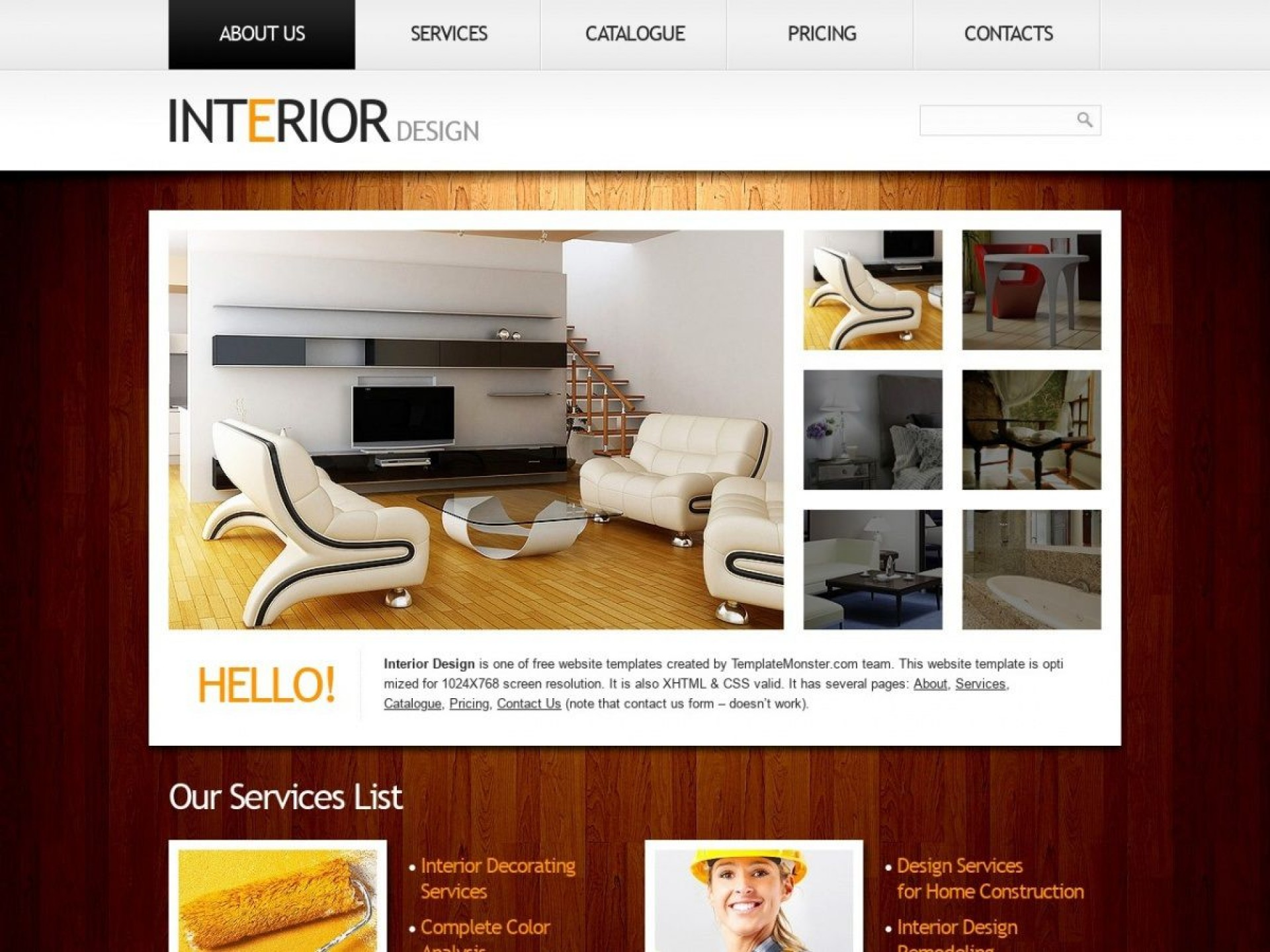 002 Dreaded Interior Design Html Template Free High Def  Download1920